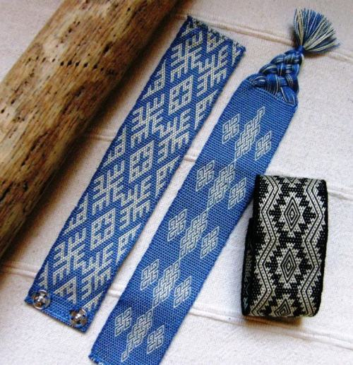 silk bookmark and cuffs