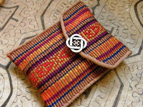 reeled silk pouch backstrap weaving