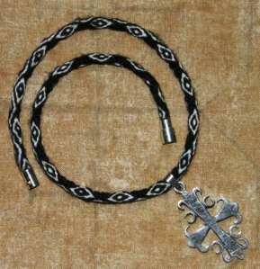 nawi awapa necklace and pendant backstrap weaving