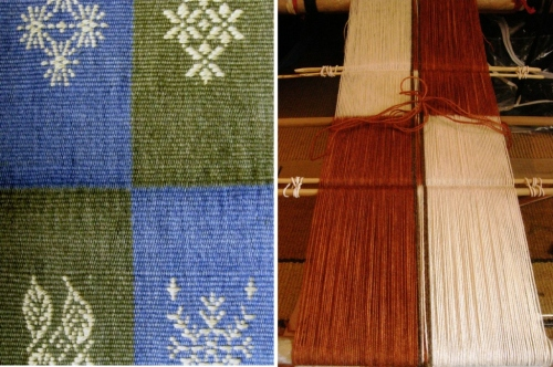 wool backstrap weaving discontinuous warp