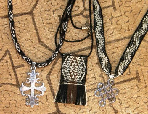 woven necklaces backstrap weaving