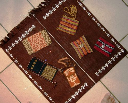 two panel display cloth backstrap weaving