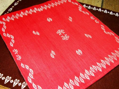 red and brown cotton panels backstrap weaving