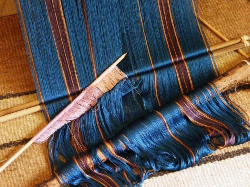 making heddles silk warp