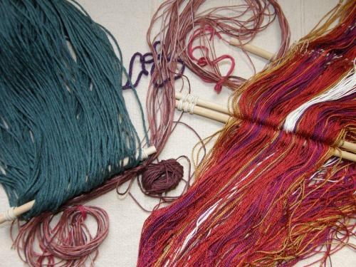 warps I brought home for backstrap weaving