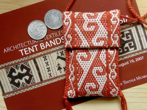 yurt design cell phone pouch