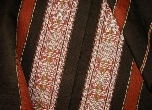 2 panels of wool project backstrap weaving