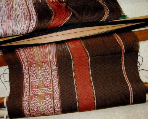second motif finished backstrap weaving
