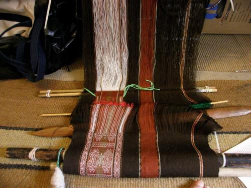 second motif underway backstrap weaving
