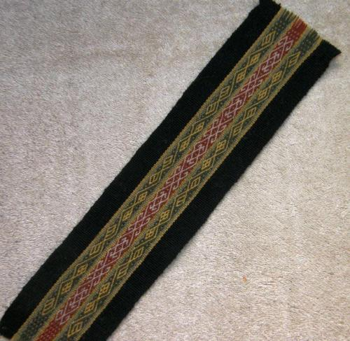 wool sample backstrap weaving
