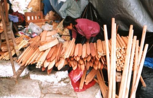 backstrap loom stall chichicastenango guatemala