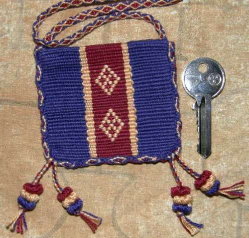 amulet bag backstrap weaving