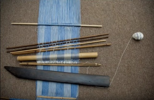 pattern sticks backstrap warp Burma