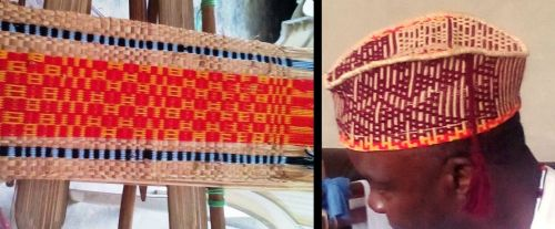 textile and hat