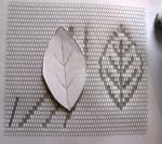 completed leaf pattern inoutline