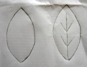 leaf outline with veins