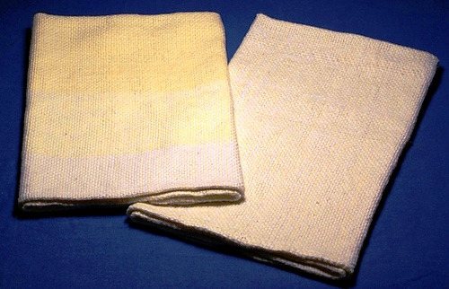 sobahime finished towels one with handspun cotton