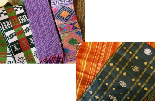 Tablet-woven belts and fabric that Taylor wove herself while in Bhutan.