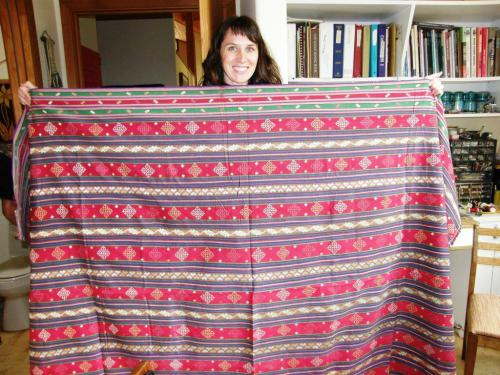 Gorgeous Bhutanese cloth that Taylor acquired during her stay.