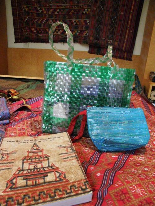 recycled plastic bags live debris Bhutan