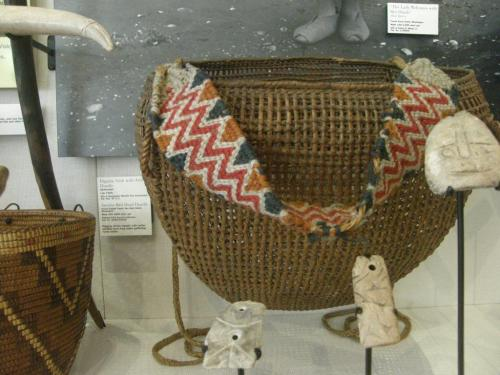 clam basket and carrying strap coastal salish