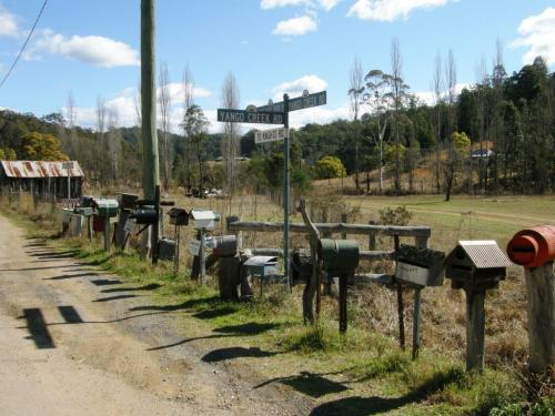 mail boxes on way to Yengo National Park