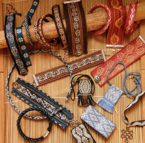 woven jewelry backstrap weaving