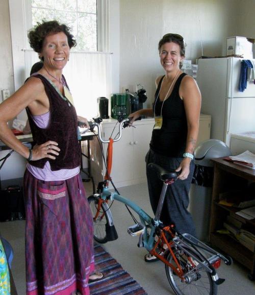 janie and karen with bike