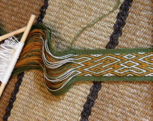 3 color pebble weave backstrap weaving