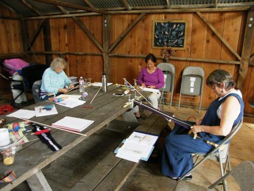 weaving in the barn