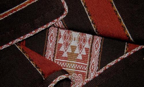 blanket with edging backstarp weaving