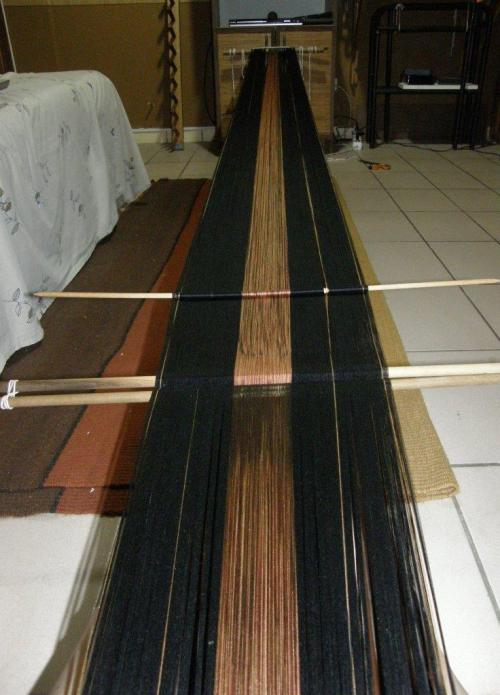 long silk warp backstrap weaving