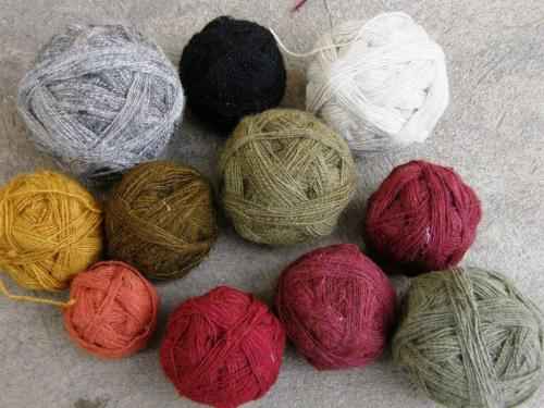 natural dye hand spun wool Cochabamba
