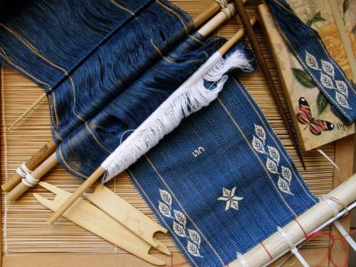 journal cover backstrap weaving