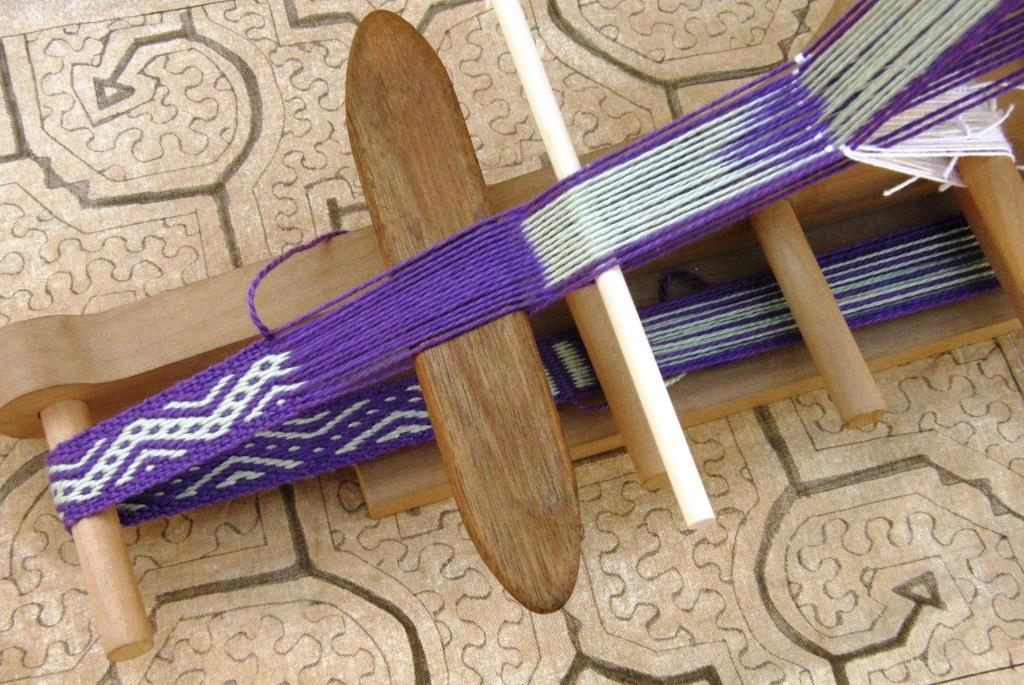 inkle loom set up fro complementary warp pick up | Backstrap