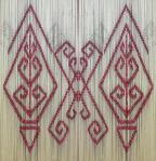 doubled ikat pattern